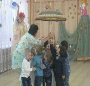 Игра «Солнышко и дождик»»( воспитатель Конева Е.А.)