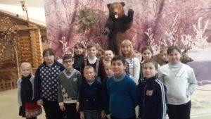 Учащиеся ГБОУ ООШ пос Сборный на экскурсии в Краеведческом музее г.Сызрань